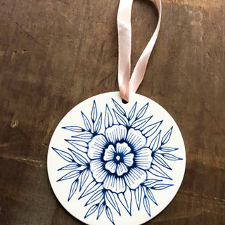 Hand Painted Ceramic Ornament - No. 059