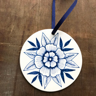 Hand Painted Ceramic Ornament - No. 058