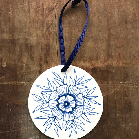 Hand Painted Ceramic Ornament - No. 054