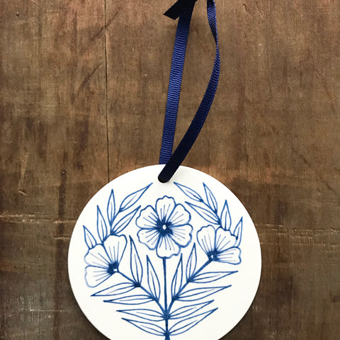 Hand Painted Ceramic Ornament - No. 051