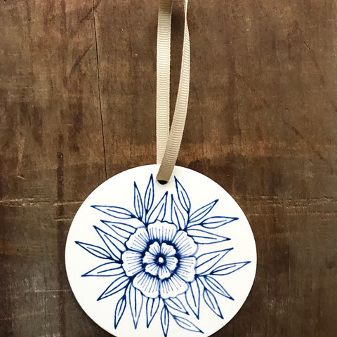 Hand Painted Ceramic Ornament - No. 050