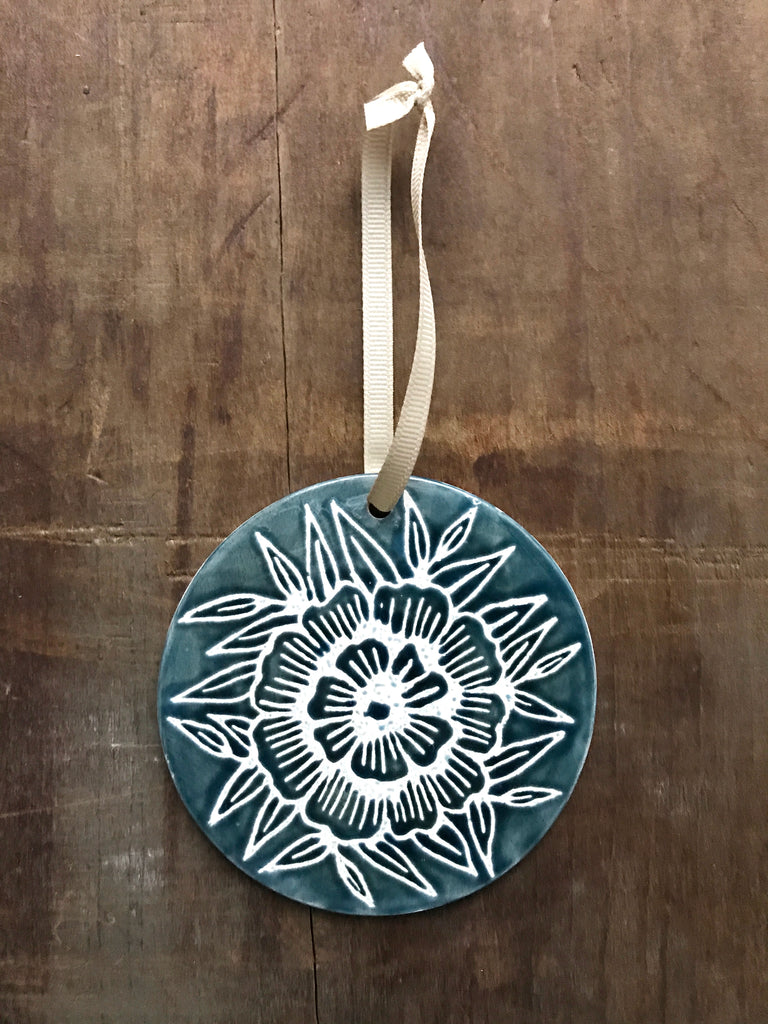 Hand Painted Ceramic Ornament - No. 047