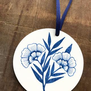 Hand Painted Ceramic Ornament - No. 045