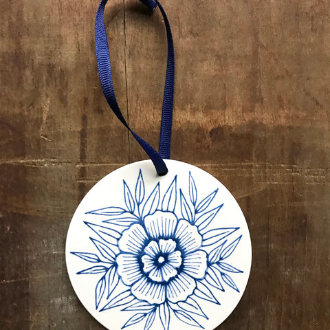 Hand Painted Ceramic Ornament - No. 044