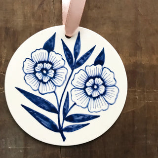 Hand Painted Ceramic Ornament - No. 040