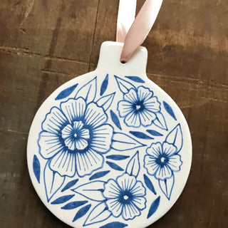 Hand Painted Ceramic Ornament - No. 035