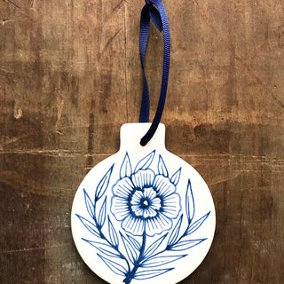 Hand Painted Ceramic Ornament - No. 049