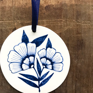 Hand Painted Ceramic Ornament - No. 030