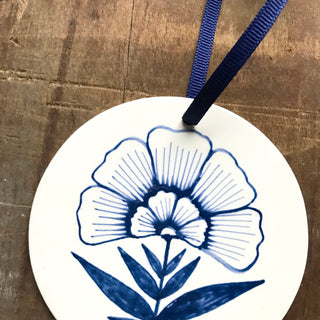 Hand Painted Ceramic Ornament - No. 027
