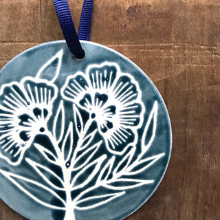 Hand Painted Ceramic Ornament - No. 025