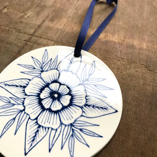 Hand Painted Ceramic Ornament - No. 023