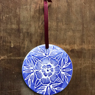 Hand Painted Ceramic Ornament - No. 011