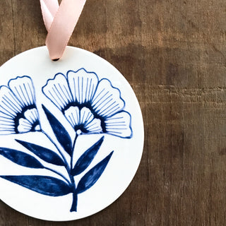 Hand Painted Ceramic Ornament - No. 009
