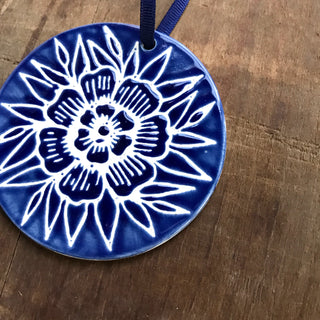 Hand Painted Ceramic Ornament - No. 008