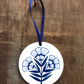 Hand Painted Ceramic Ornament - No. 005
