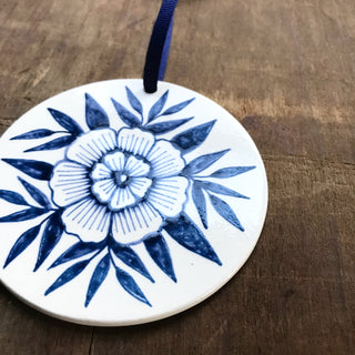 Hand Painted Ceramic Ornament - No. 004