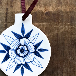 Hand Painted Ceramic Ornament - No. 066