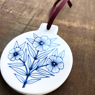 Hand Painted Ceramic Ornament - No. 002