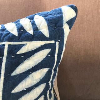 Hand Block Printed Extra Large Lumbar Pillow