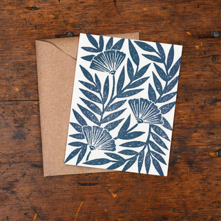 Block Printed Blank Card