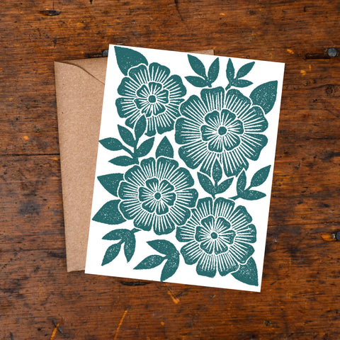 KW68- Block Printed Blank Cards