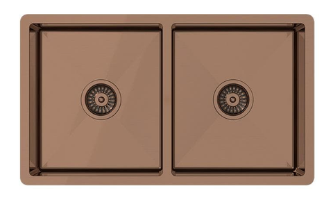 Brushed copper sink material