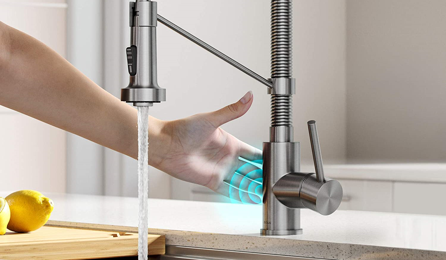 Touch activation smart faucets