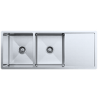 Orlando 1125x450 Double Bowl with Drain Board Sink