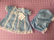 Load image into Gallery viewer, Kid's dress cotton with lace and flowers [Light Blue]