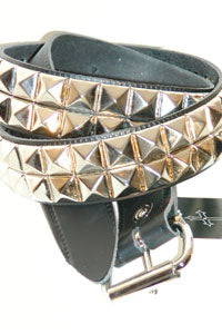 Belt - 2 row Pyramid silver