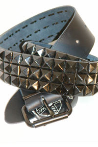 Belt - 3 row Pyramid Black