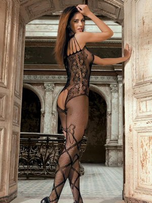 e0c7e678c Lingerie - Body Suit - Seamless Floral Lace Fishnet bodystocking ...