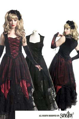 Dress - Long - Velvet & Mesh - ALL BLACK