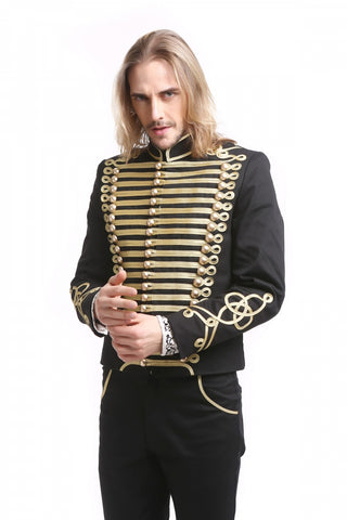 Jacket-Officer Style - Black and Gold