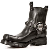 NEW ROCK-HALF BOOT-SKULL RIVETS