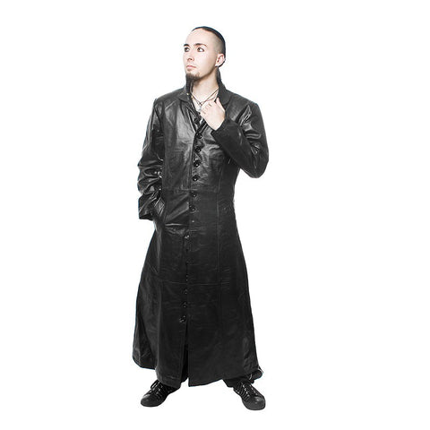 Coat- Long - Straight - Leather