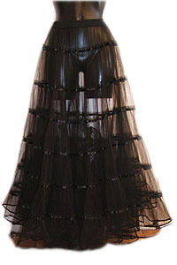 Skirt - Long petticoat - blk