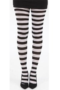 Tights - Striped - Black and White