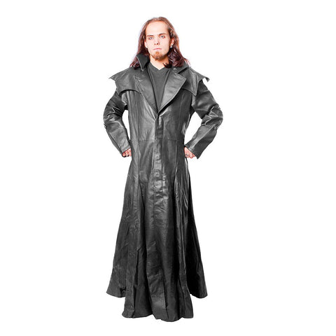 Coat-Long Leather-666