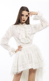 Shirt - Frills - White