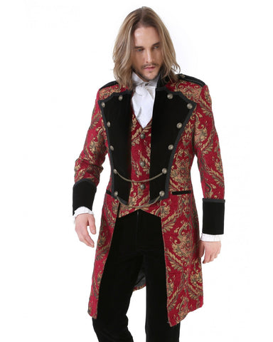 Coat-Aristocrate-Gothic-Red&Gold