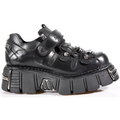 NEW ROCK-SHOE WITH LAC AND VELCRO-METALLIC