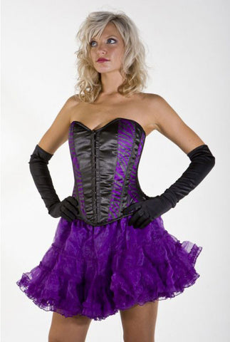 Skirt - petticoat - organza-purple