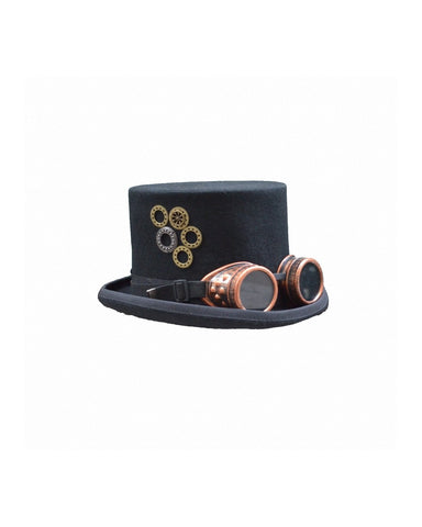 Hat-Steampunk-Gothic-Black & Brass look