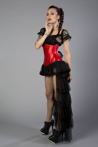 Corset - Underbust - Red Satin