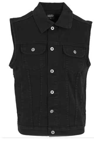 Vest Denim - Black