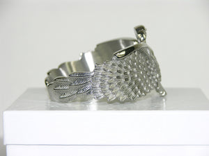 Unique Eagle Cuff Bracelet with White Zircon Eye