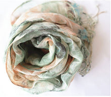 Load image into Gallery viewer, Garden Fringe Scarf