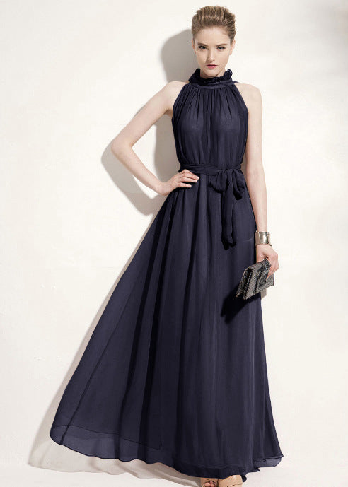 Elegant Halter Maxi Dress