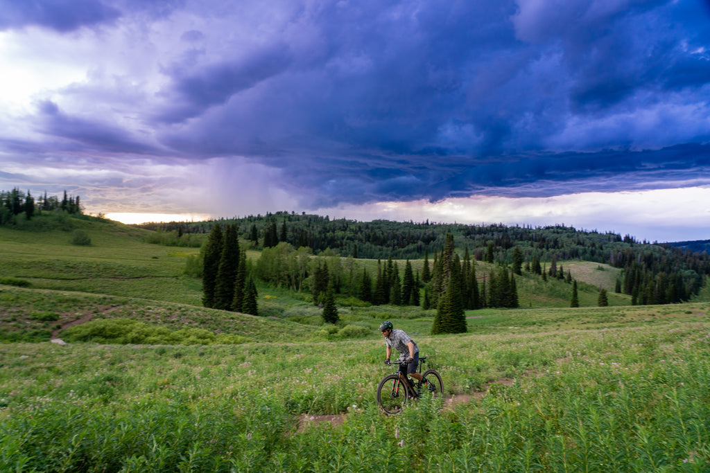 Charlie Hagen Riding Bikes at Grand Targhee